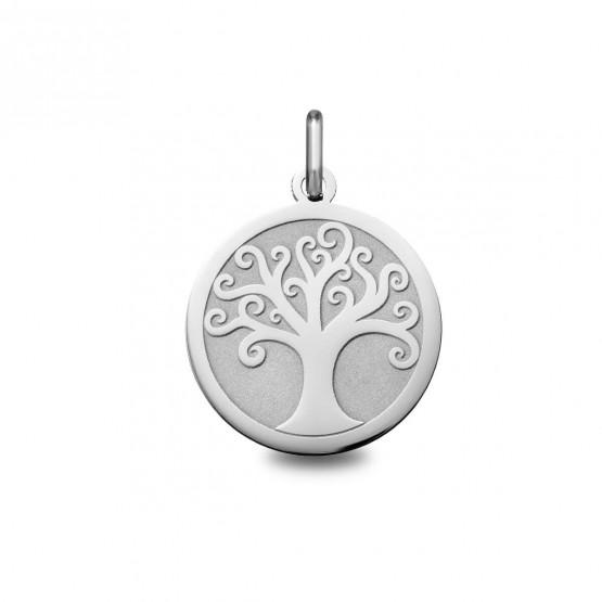 Dije de plata de 1ªLey árbol de la vida brillo-mate (248400096)