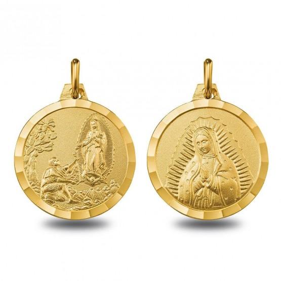 Escapulario de oro Virgen de Guadalupe y Aparición (1000613)