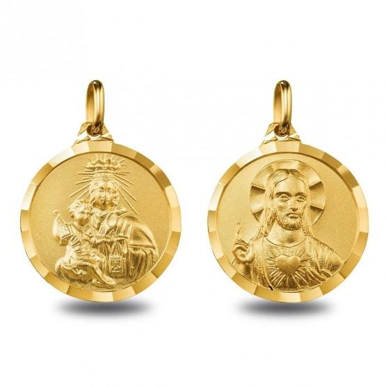 Escapulario de oro V. Carmen y Sagrado Corazón (1000617)