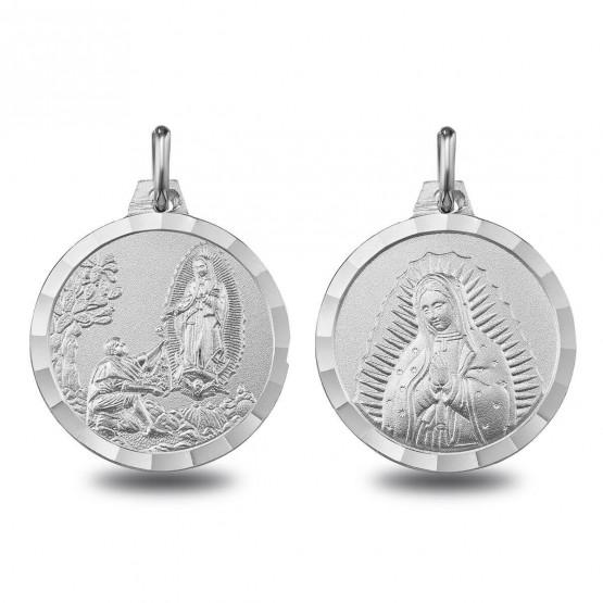 Escapulario de plata Virgen de Guadalupe y Aparición (1000613)