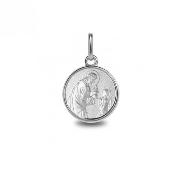 Medalla de plata imagen de Cristo con niña (1260470)