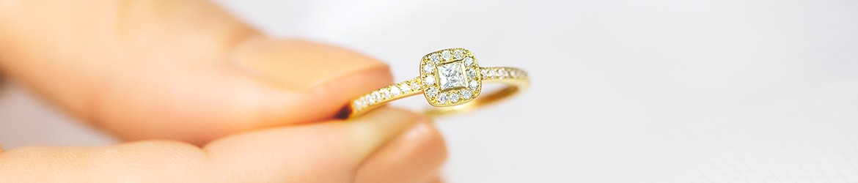 Anillos de compromiso de Oro amarillo de 14k y diamantes | Argyor MX