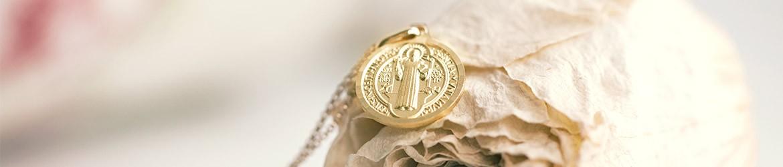 Medallas religiosas de San Benito en Oro y Plata | Argyor MX