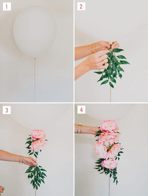diy flores y globos boda