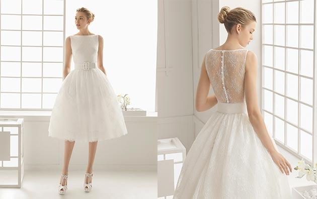 Vestidos para boda civil rosa clara